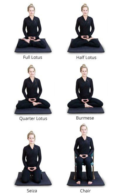 Les positions pour bien méditer