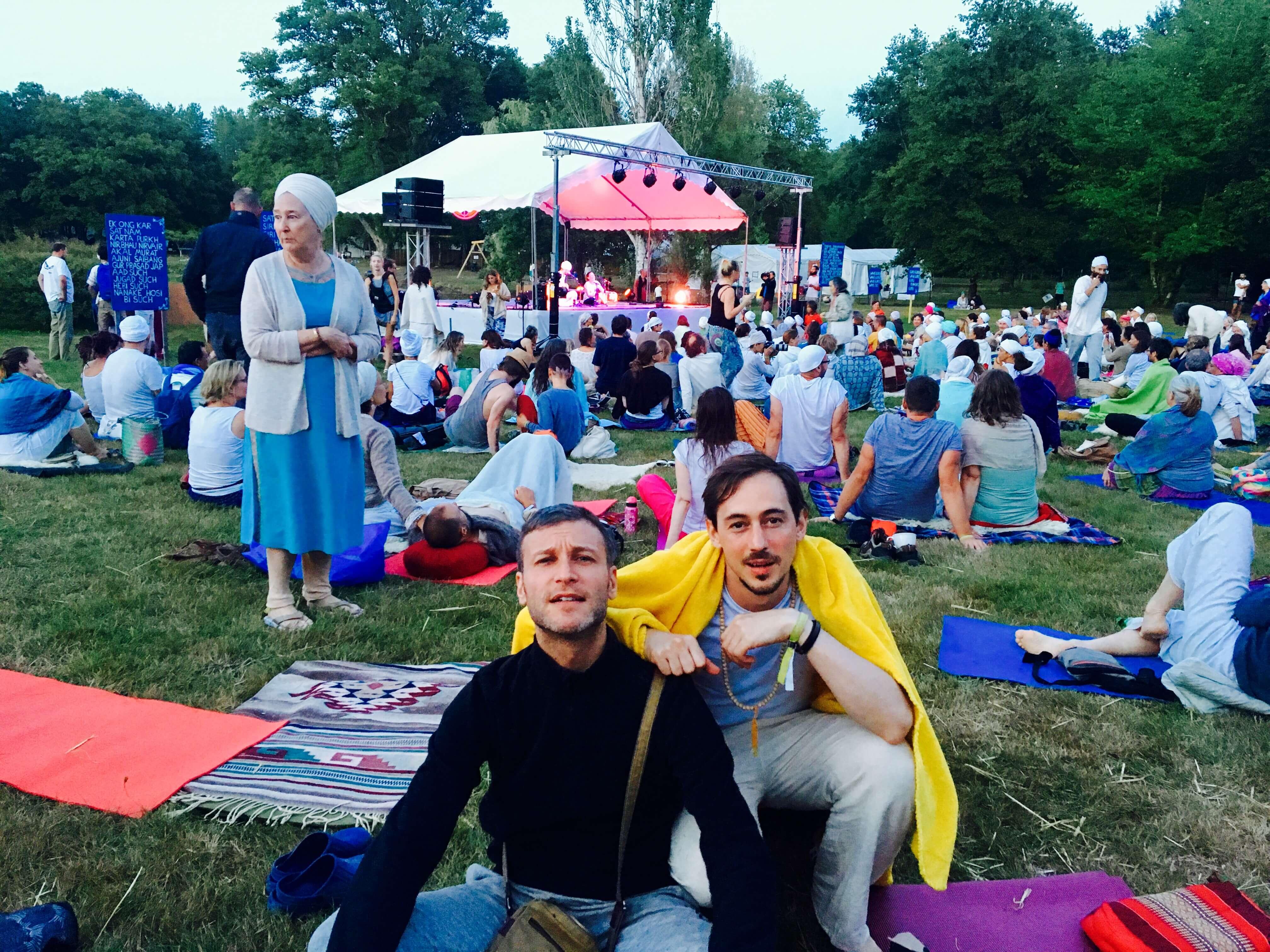 Moi et mon pote william (Iam Will sur facebook), au festival 3HO